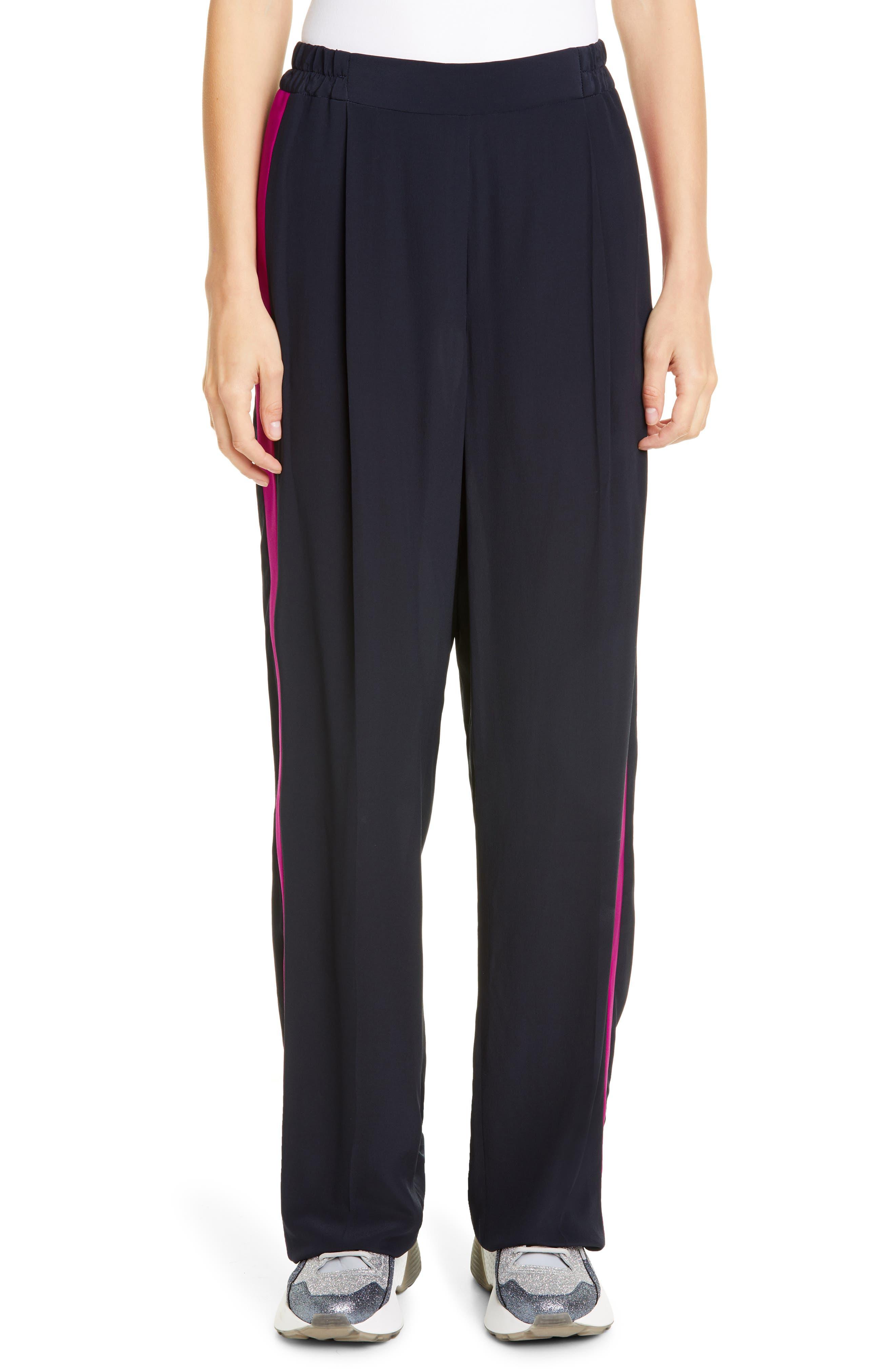 Stella Mccartney Pants Side Stripe Crêpe de Chine Pants