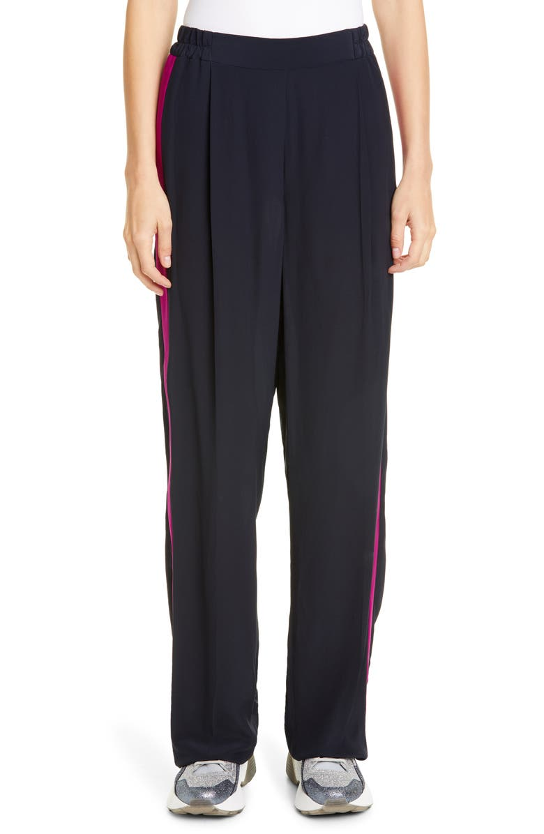 Stella McCartney Side Stripe Cr Pe De Chine Pants
