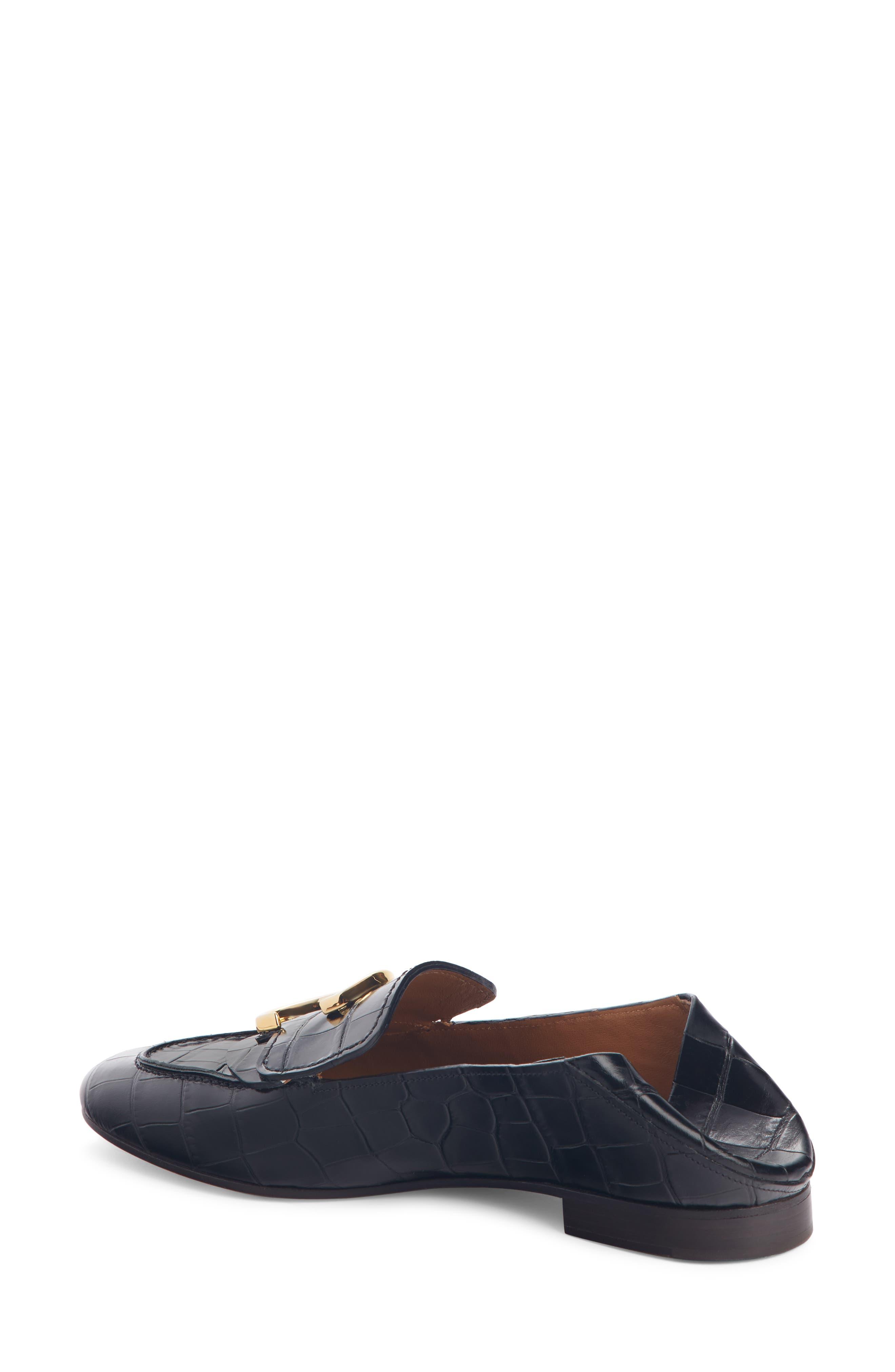 ,                             C Croc-Embossed Convertible Loafer,                             Alternate thumbnail 3, color,                             BLACK