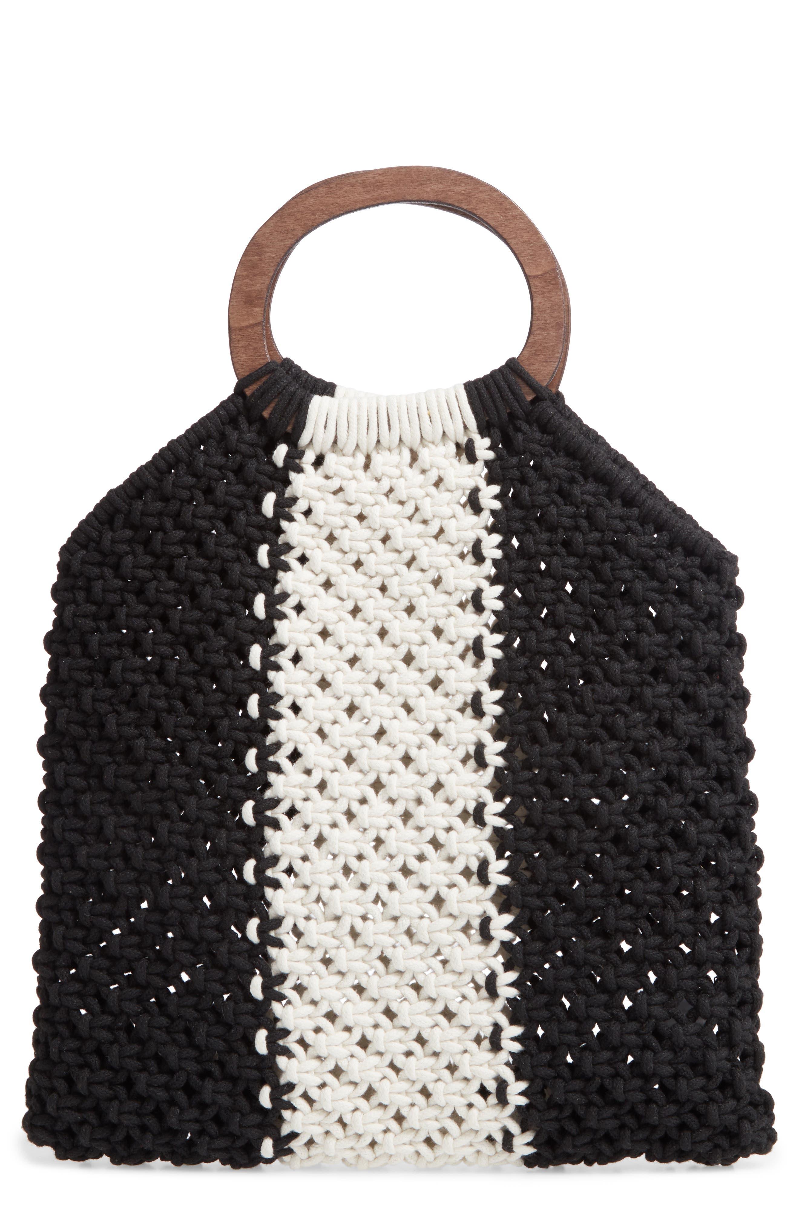 Mali + Lili Riley Stripe Knit Bag