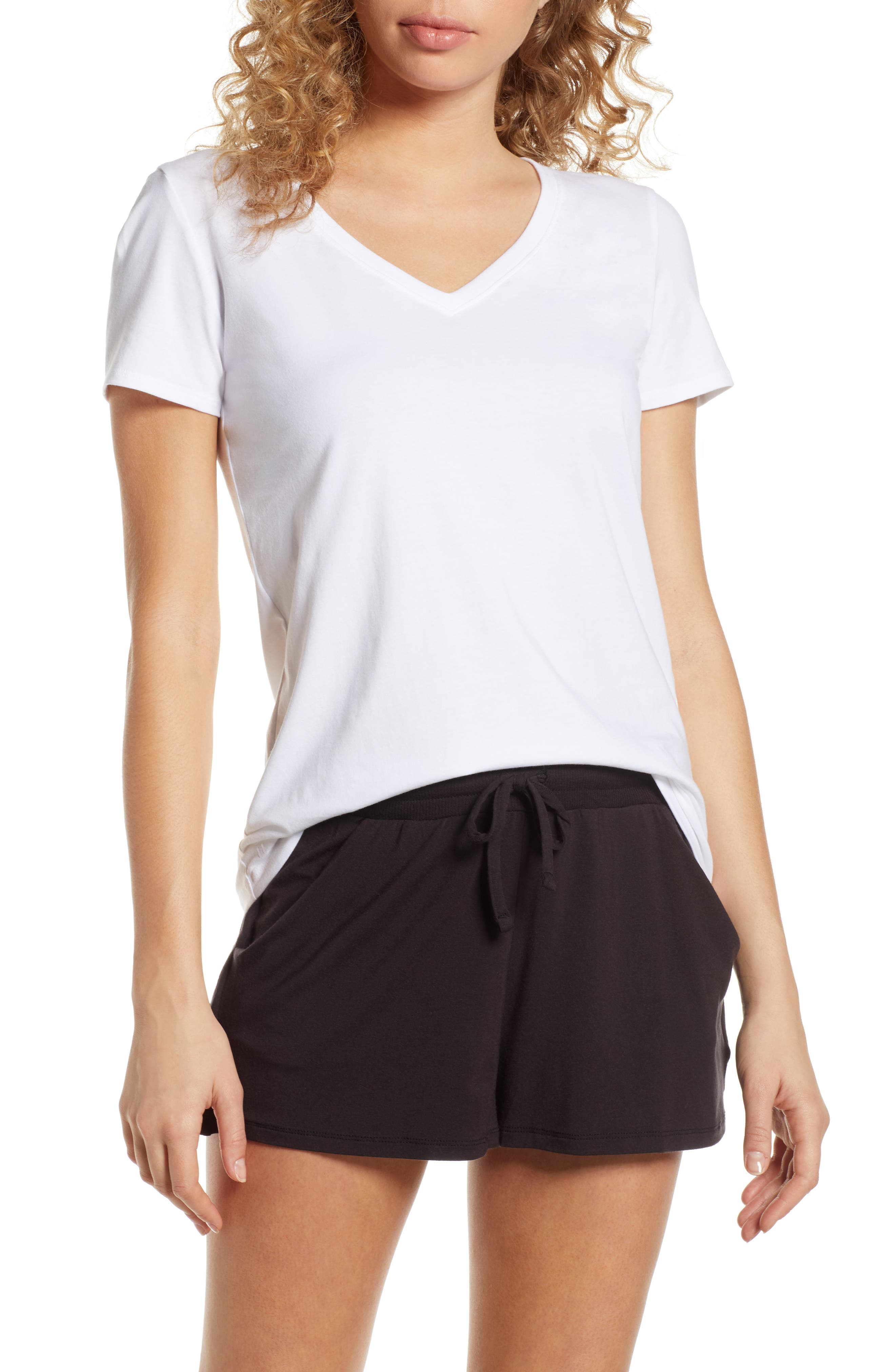 Tommy John Second Skin V-Neck Tee, White