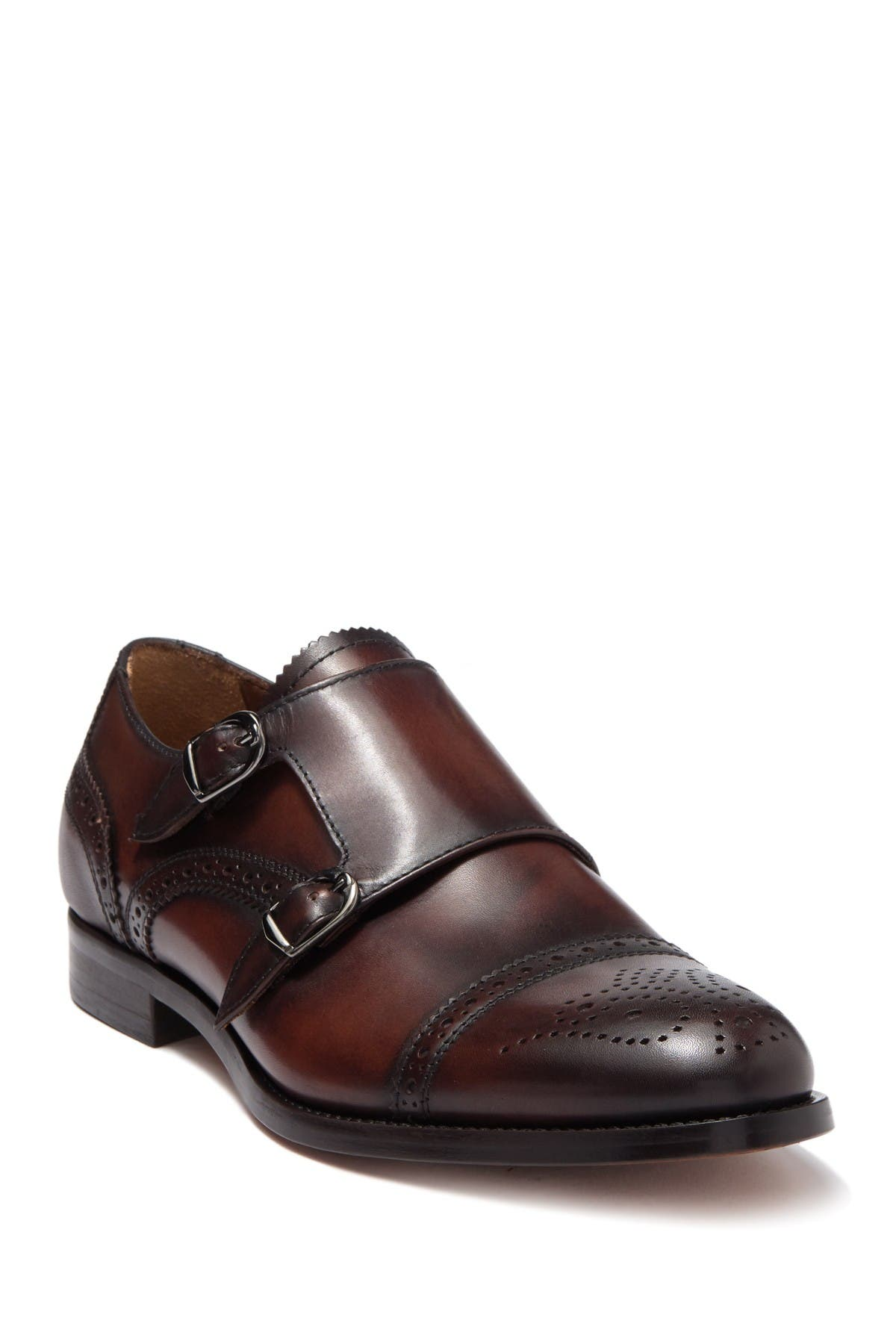 Image of Antonio Maurizi Leather Double Monk Strap Loafer