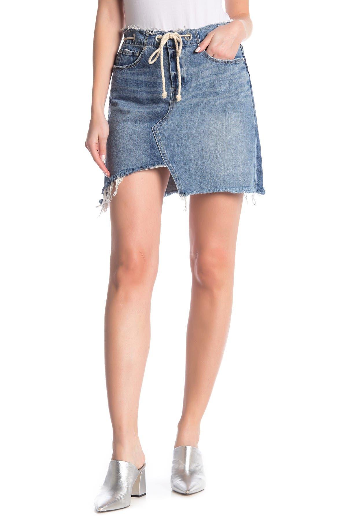 Image of BLANKNYC Denim High Rise Asymmetrical Skirt