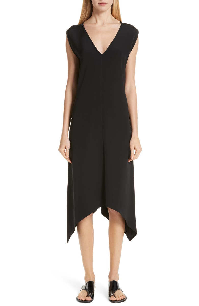 ZERO + MARIA CORNEJO Silk Crepe Dress, Main, color, 001