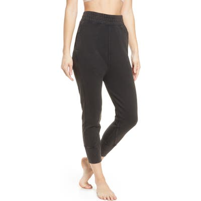 Free People Fp Movement June Bug Crop Sweatpants, Black