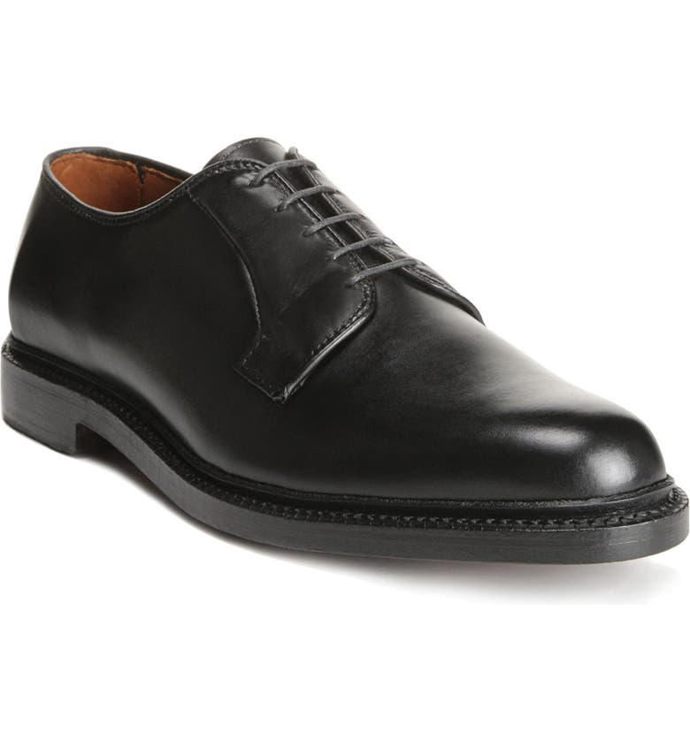 ALLEN EDMONDS Leeds Plain Toe Derby, Main, color, BLACK
