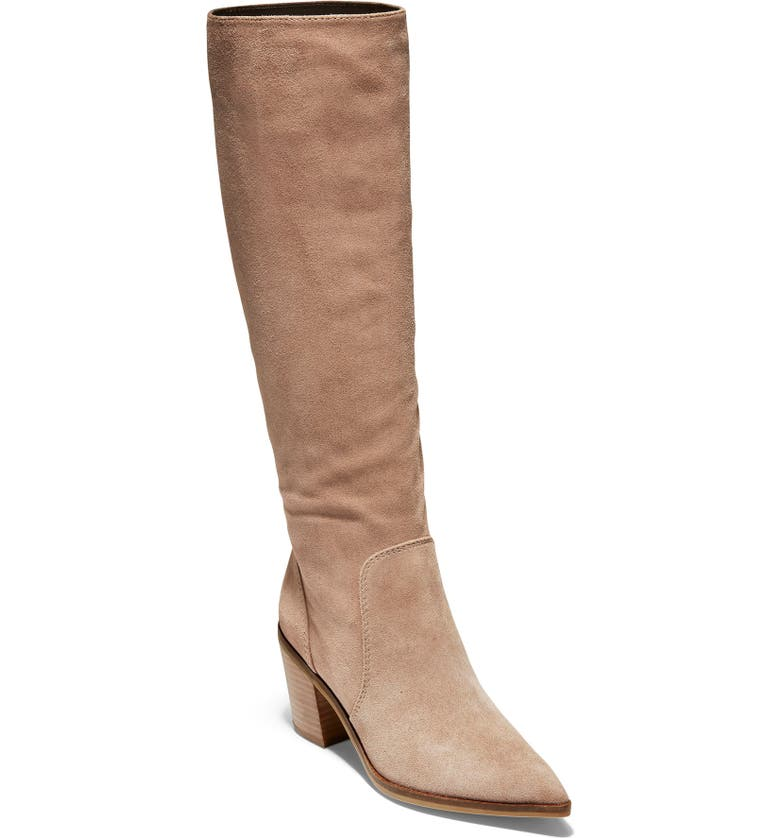 COLE HAAN Willa Knee High Boot, Main, color, STONE TAUPE