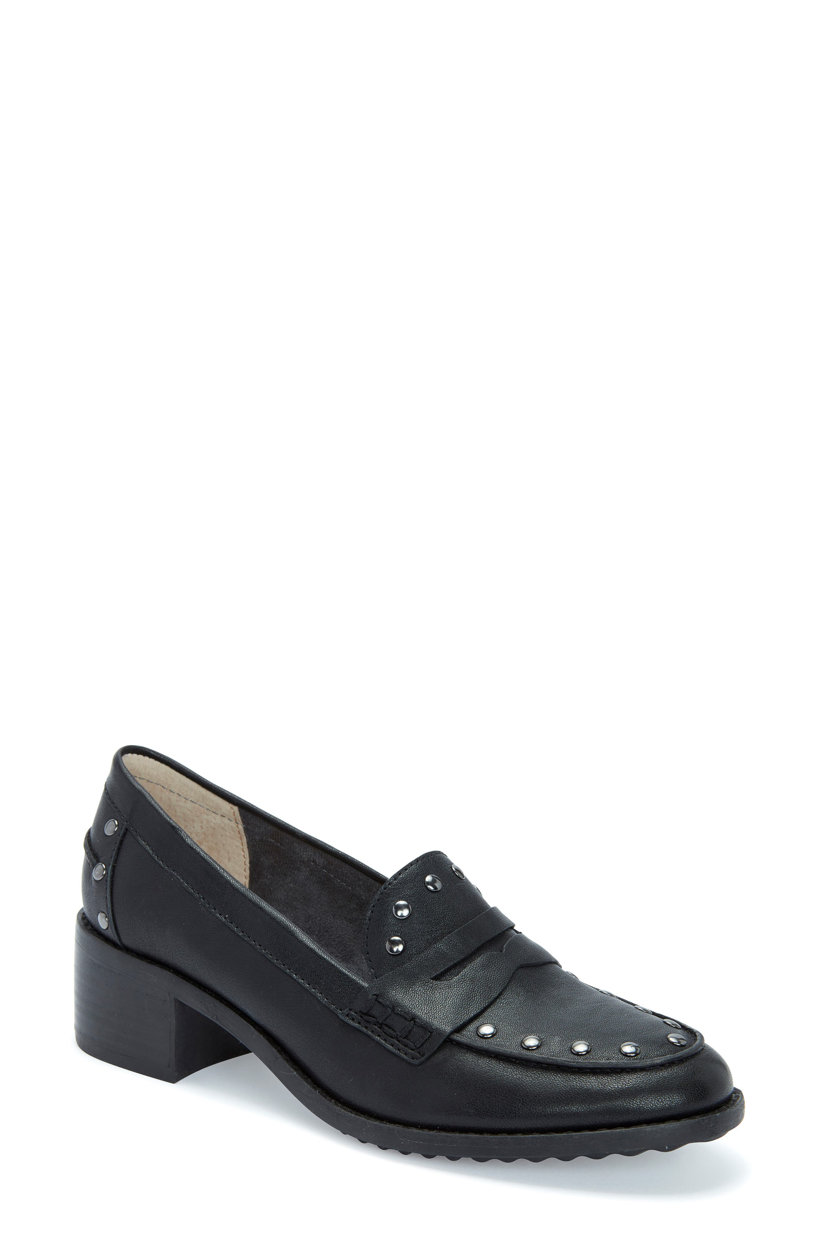 Image of Me Too Dani Leather Heeled Loafer