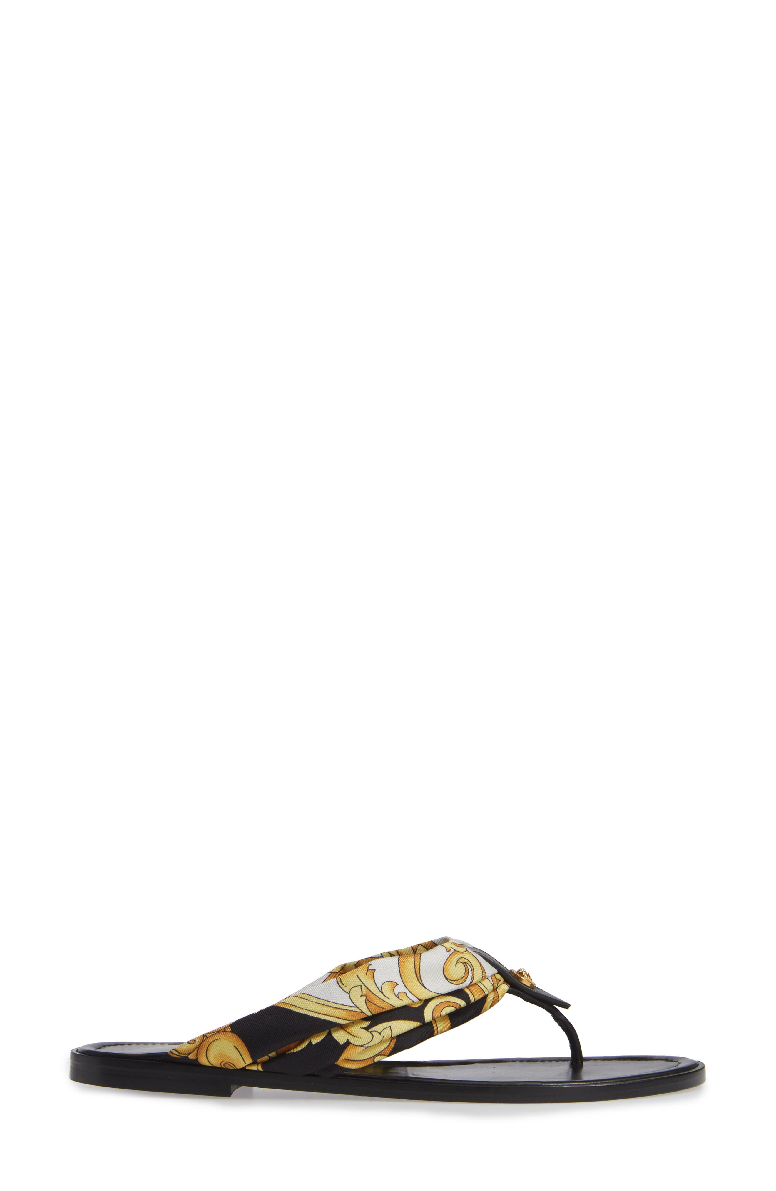 ,                             Hibiscus Flip Flop,                             Alternate thumbnail 3, color,                             BLACK MULTI