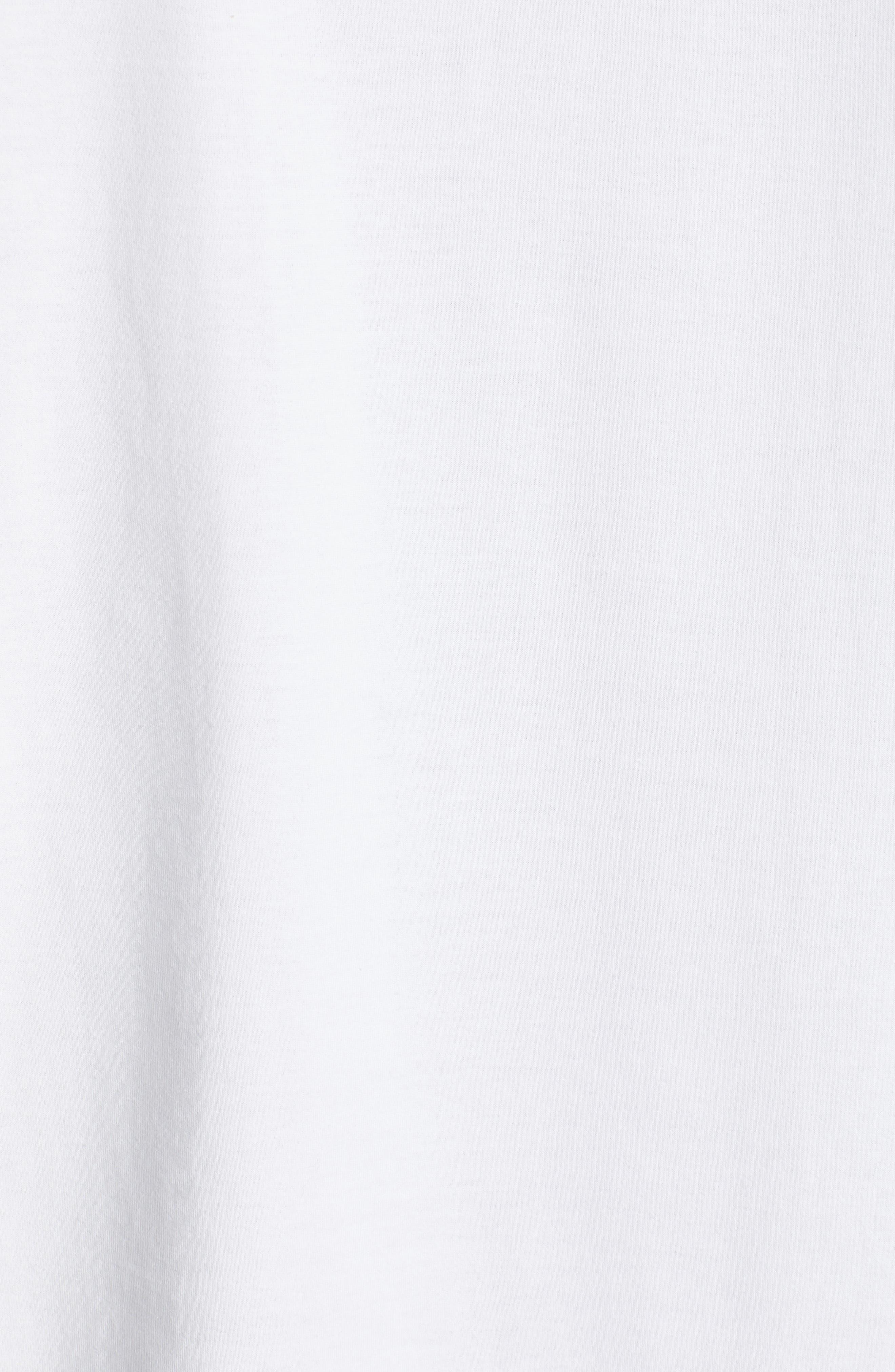 ,                             Logo T-Shirt,                             Alternate thumbnail 5, color,                             CORE WHITE