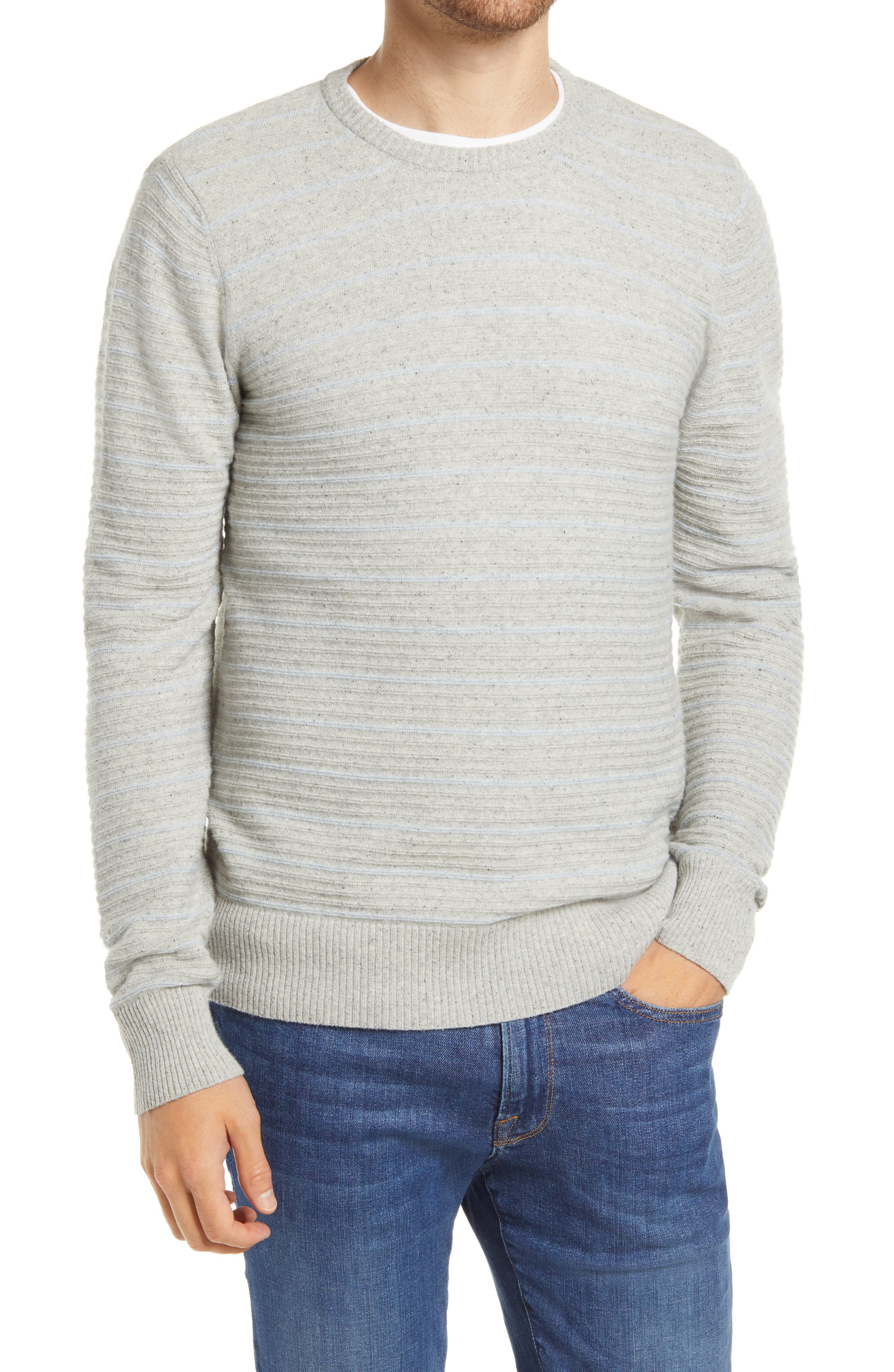 Image of Billy Reid Stripe Crewneck Sweater