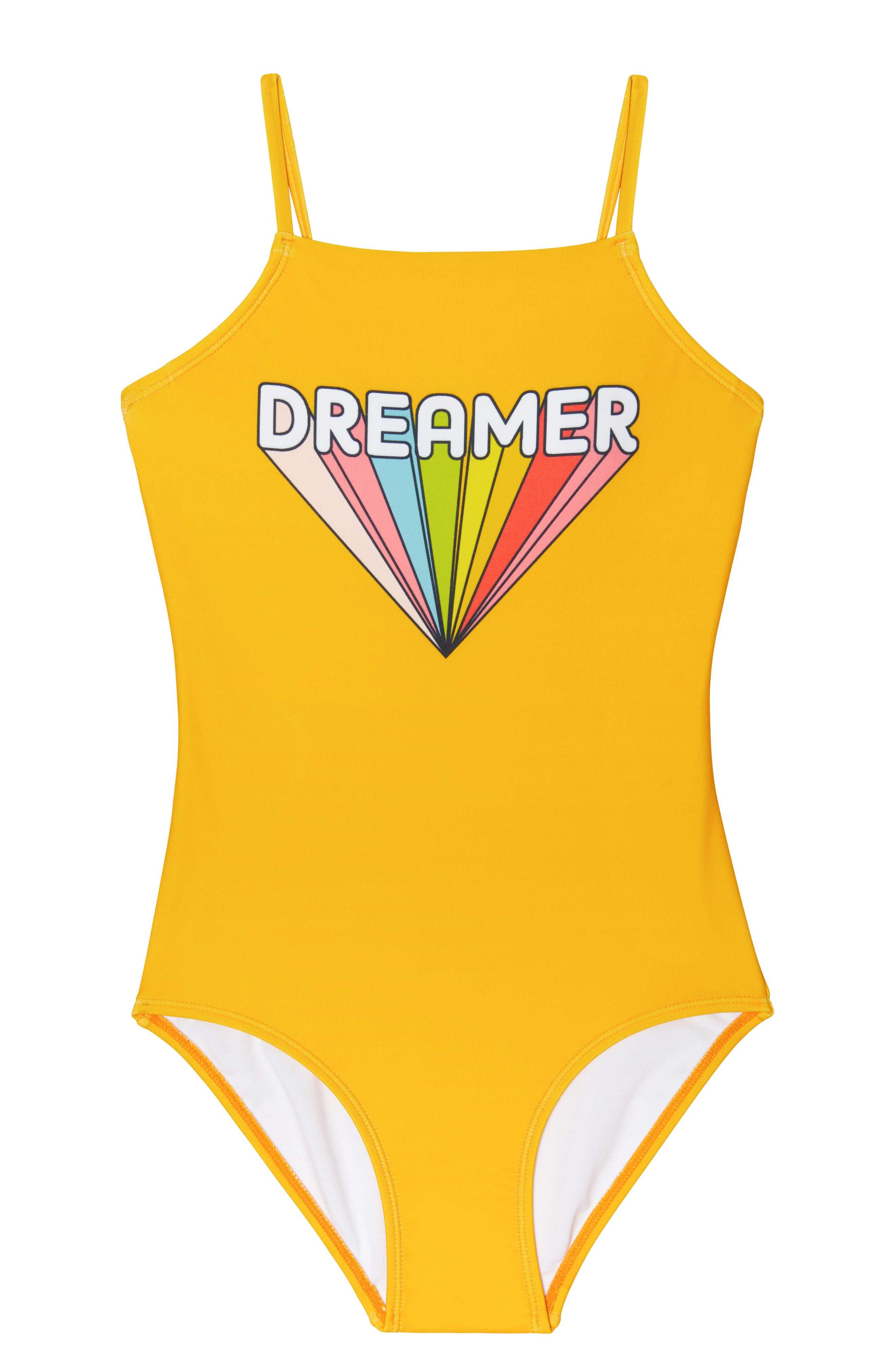 Girls Gossip Girl Dreamer OnePiece Swimsuit Size 14  Yellow