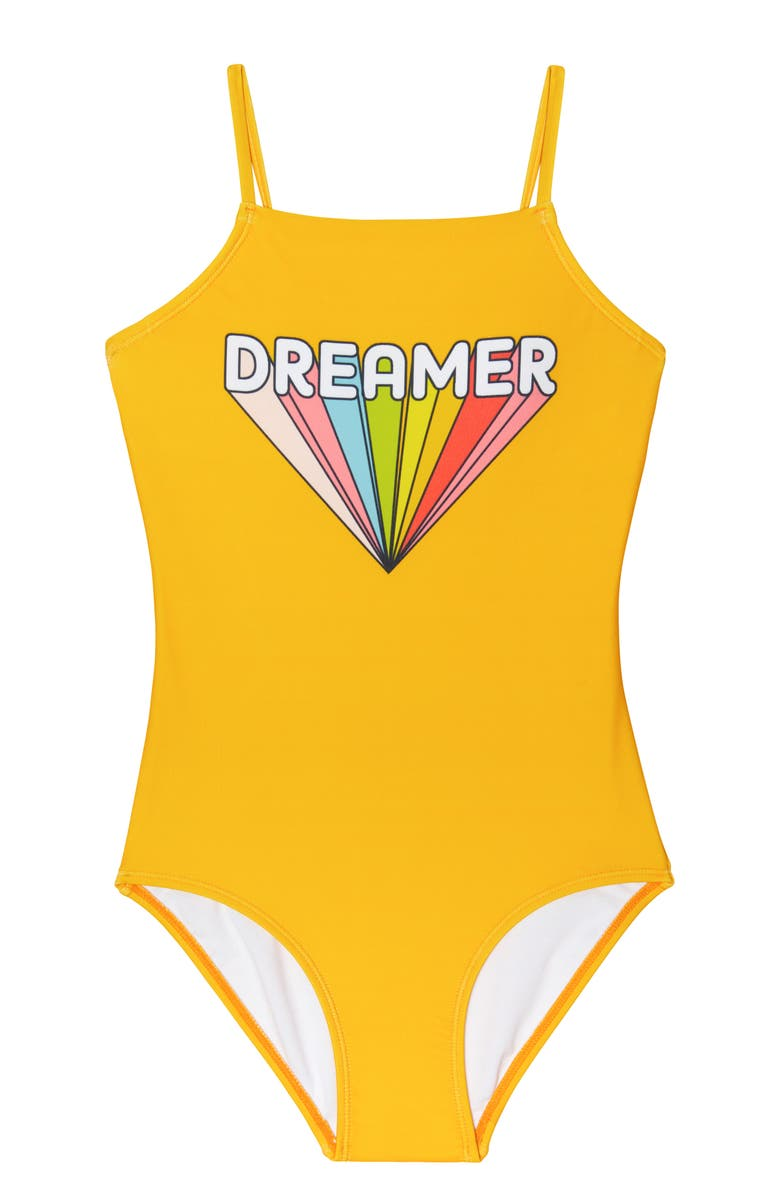 GOSSIP GIRL Dreamer One-Piece Swimsuit, Main, color, YELLOW