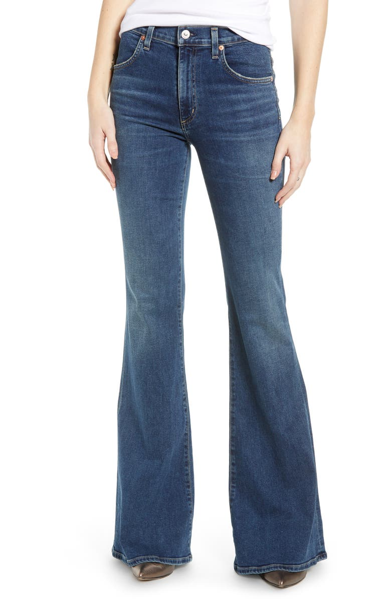 CITIZENS OF HUMANITY Chloe High Waist Flare Jeans, Main, color, DEDICATION