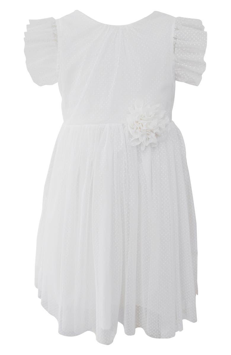 POPATU Flutter Sleeve Tulle Dress, Main, color, 100