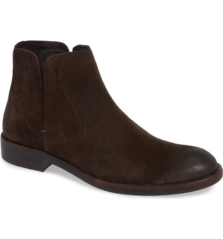 JOHN VARVATOS Star USA Waverly Covered Chelsea Boot, Main, color, DARK BROWN SUEDE