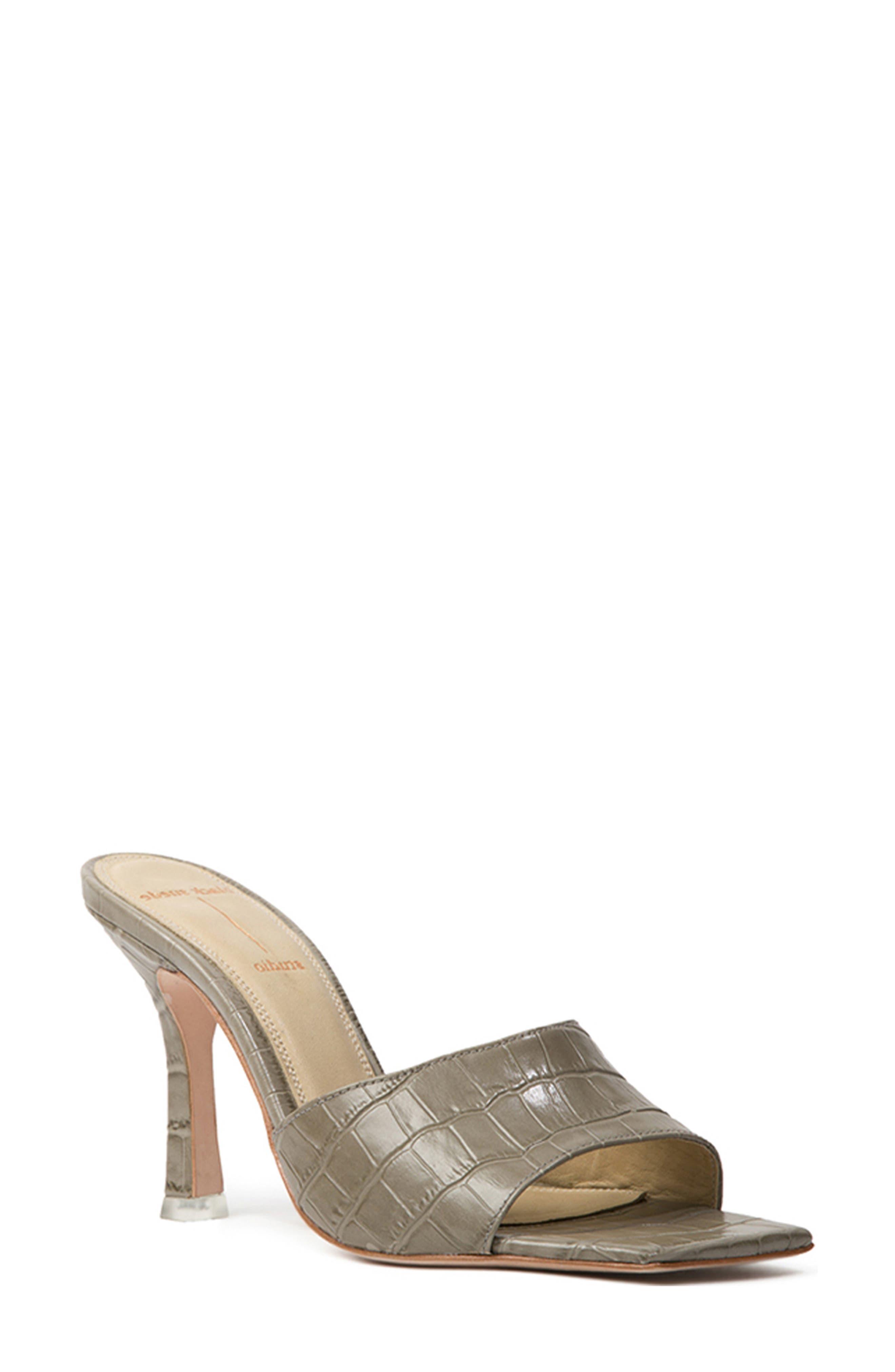 Valentina Croc Embossed Sandal