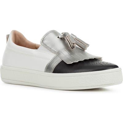 Geox Leelu Metallic Sneaker, White