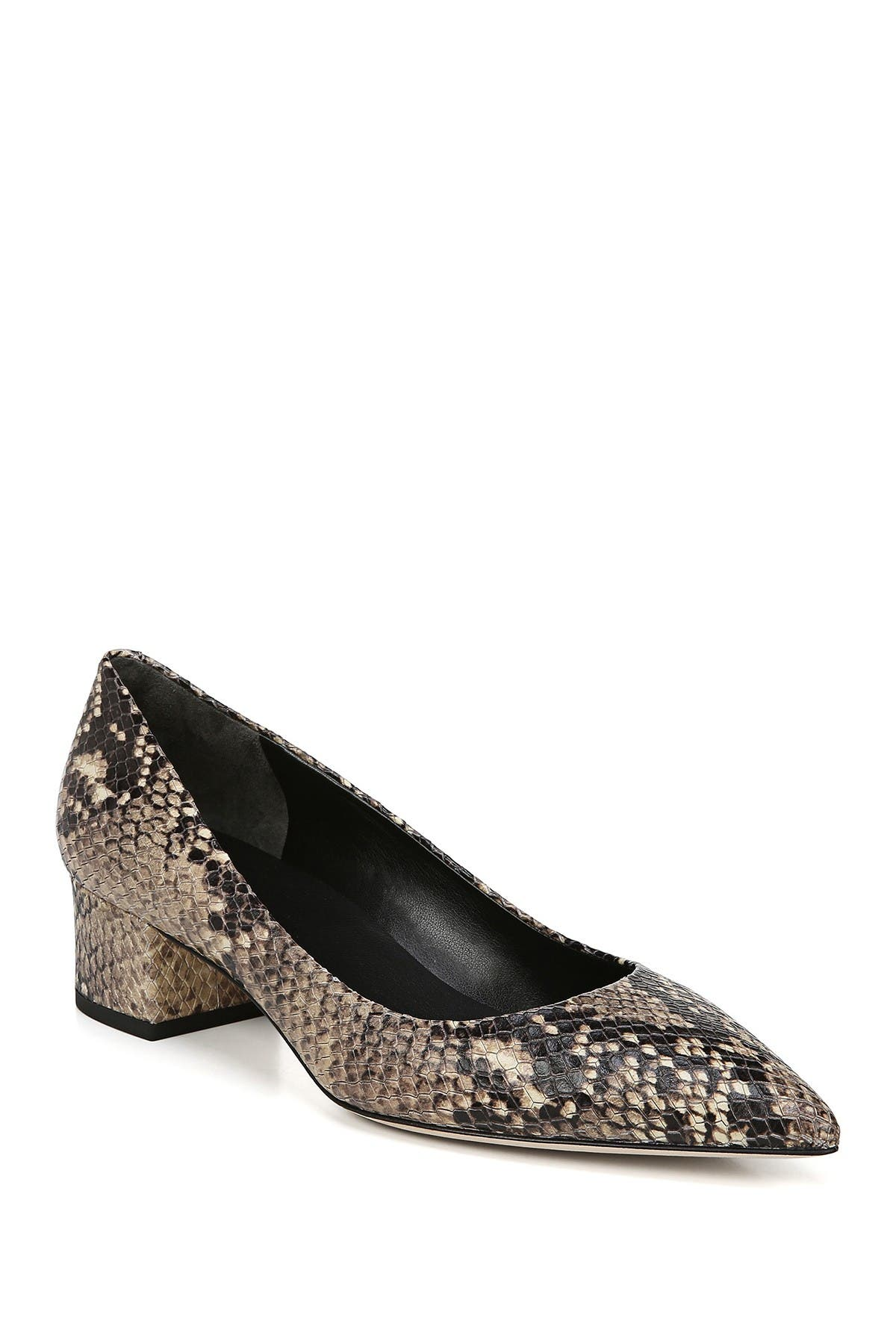 Image of Via Spiga Guervie Block Heel Snake Embossed Pump