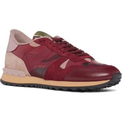 Valentino Garavani Rockrunner Sneaker, Burgundy
