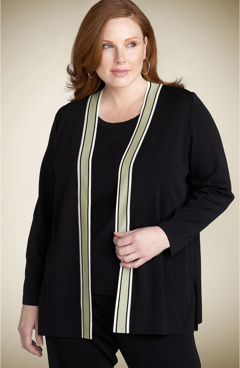 Exclusively Misook Open Trim Cardigan Plus Nordstrom