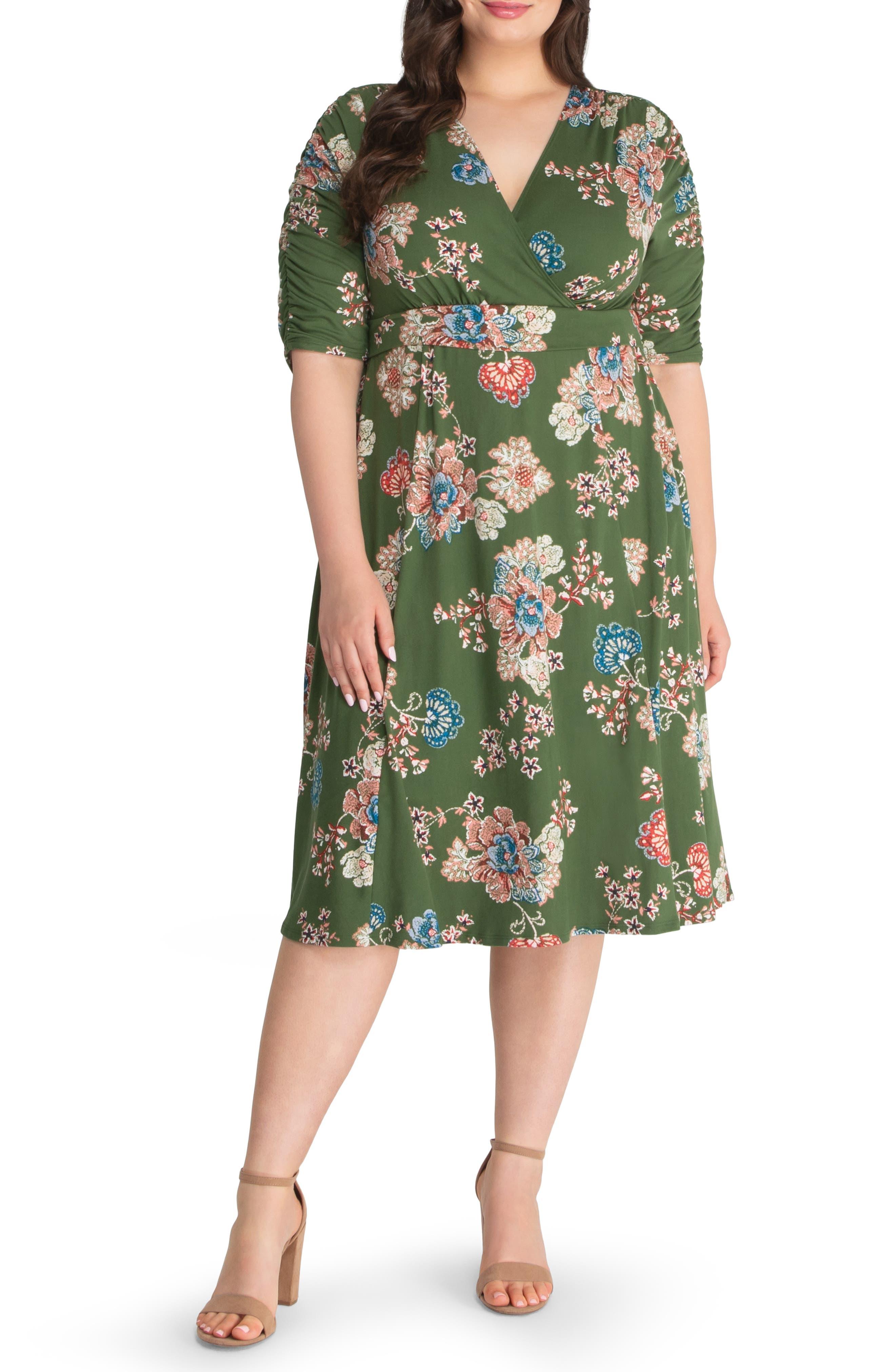 Gabriella Print Jersey A-Line Dress