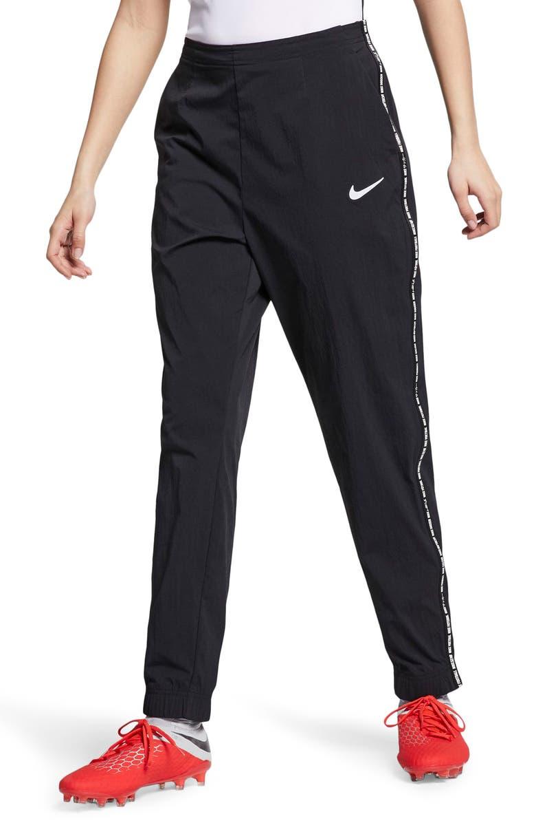 NIKE F.C. Women's Pants, Main, color, BLACK/ BLACK/ WHITE