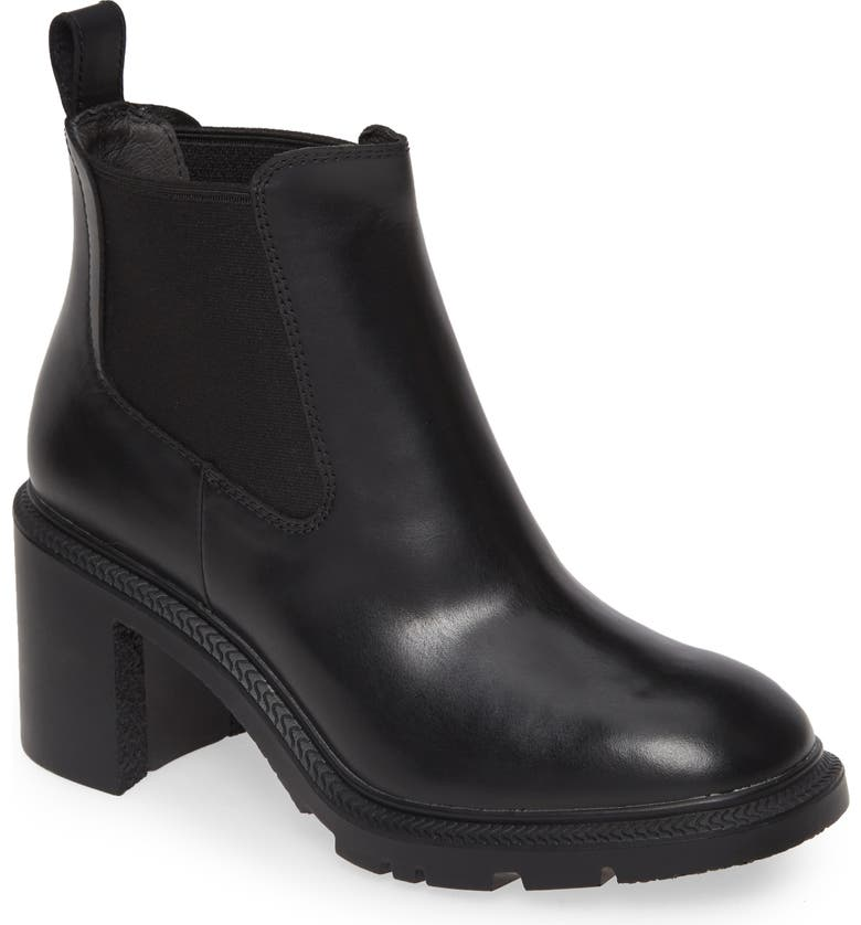 CAMPER Whitnee Chelsea Boot, Main, color, BLACK LEATHER
