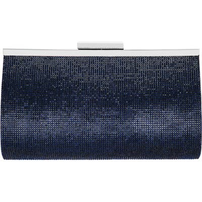 Nina Crystal Frame Clutch - Blue