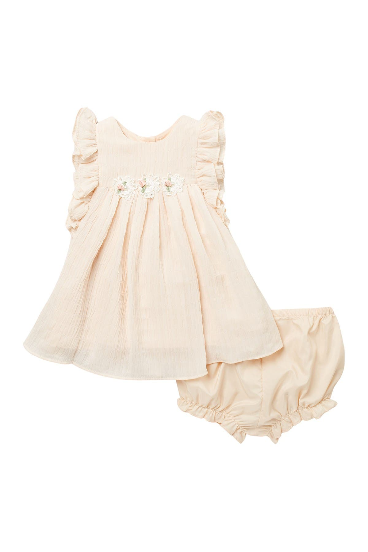Image of Laura Ashley Chiffon Dress & Bloomer Set