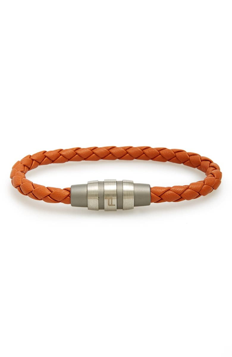 PORSCHE DESIGN 'Grooves' Bracelet, Main, color, 800