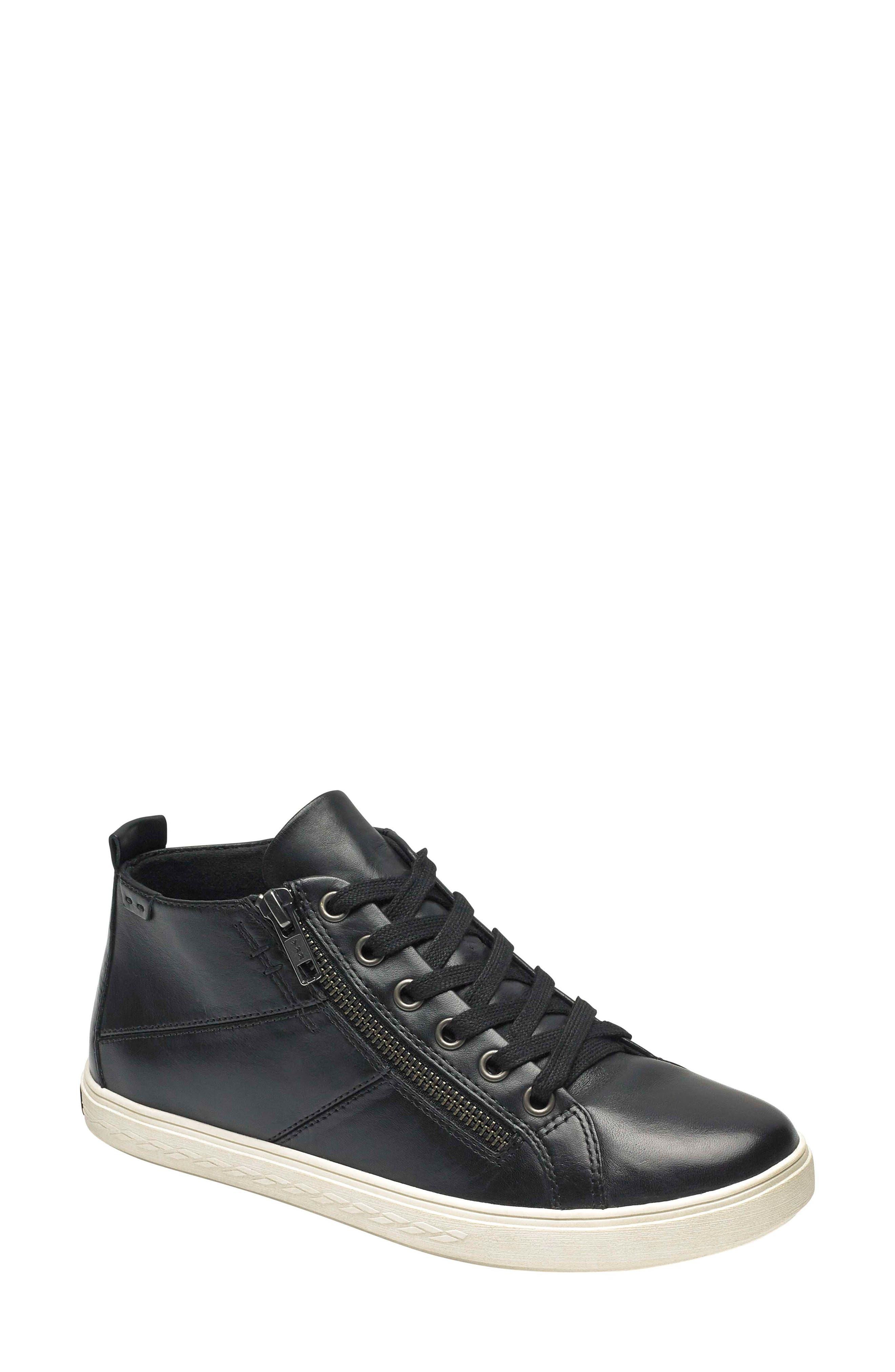 Rockport Cobb Hill Willa High Top Sneaker- Black