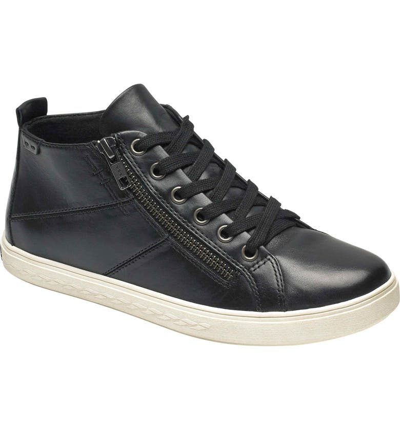 ROCKPORT COBB HILL Willa High Top Sneaker, Main, color, BLACK LEATHER