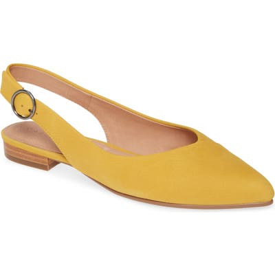 Caslon Lexie Pointed Toe Slingback Flat- Yellow