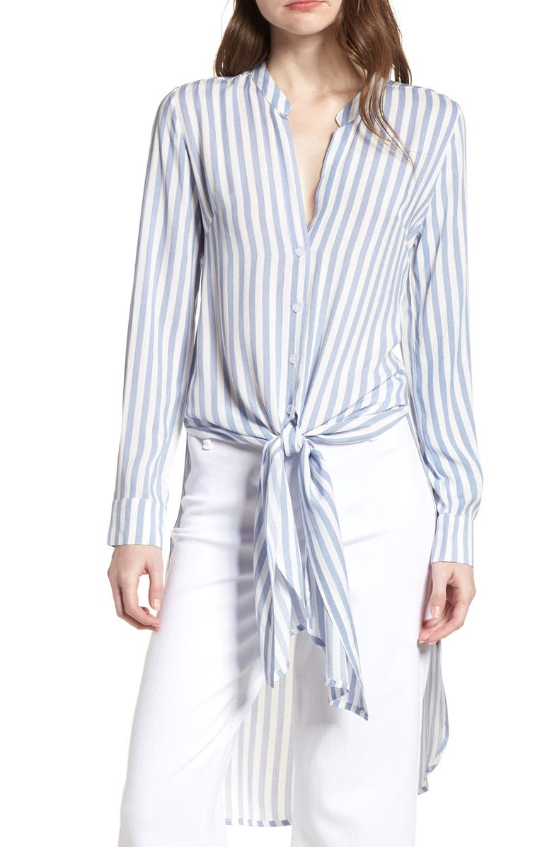 BISHOP + YOUNG Stripe Front Tie Tunic, Main, color, 400