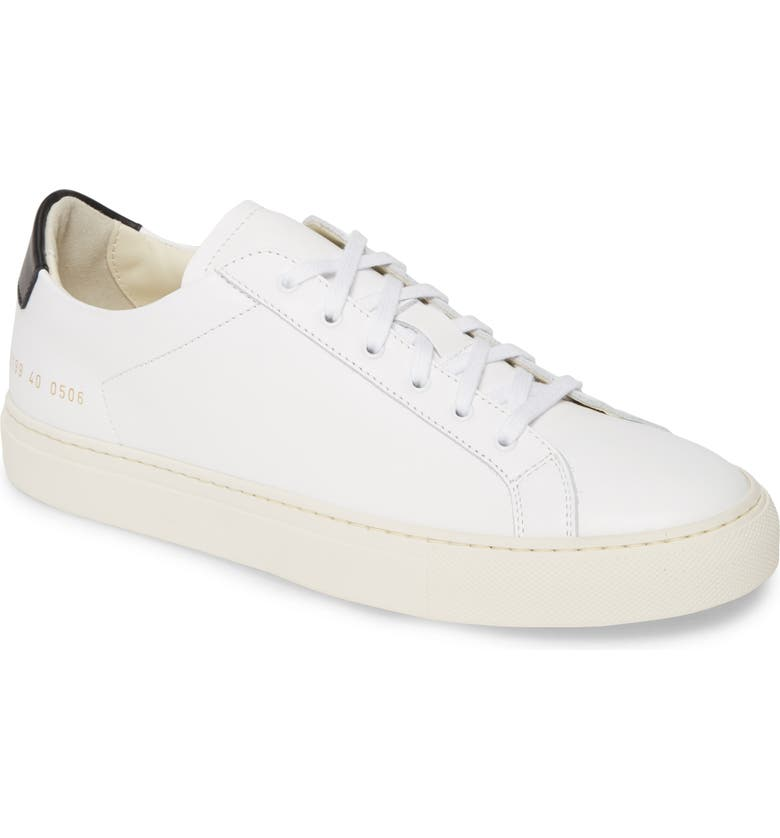 COMMON PROJECTS Retro Sneaker, Main, color, WHITE/BLACK