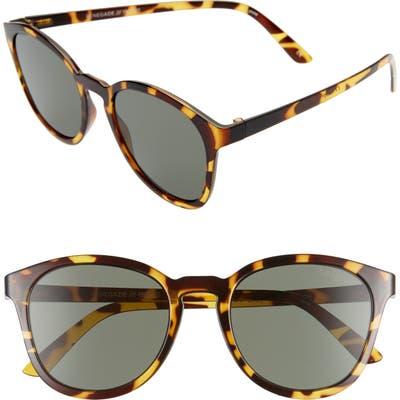 Le Specs Renegade 51Mm Keyhole Sunglasses - Syrup Tort/ Khaki Mono