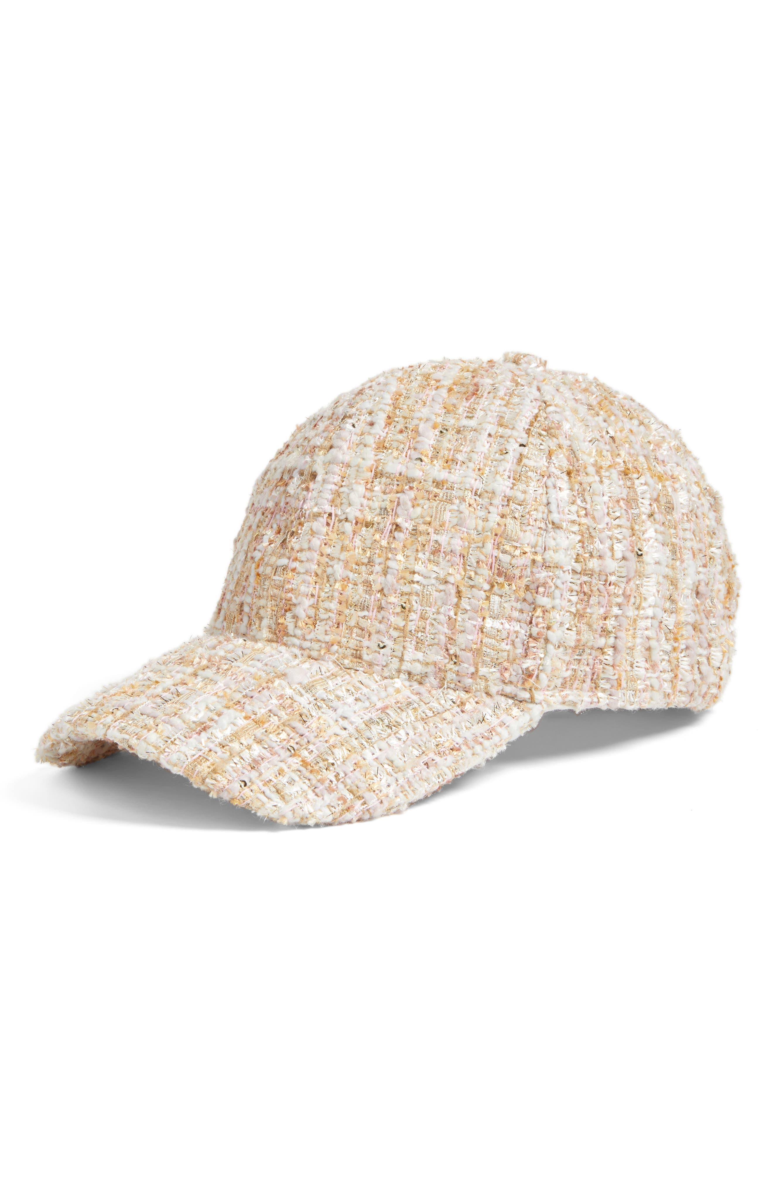 Tweed Baseball Cap, Main, color, 650