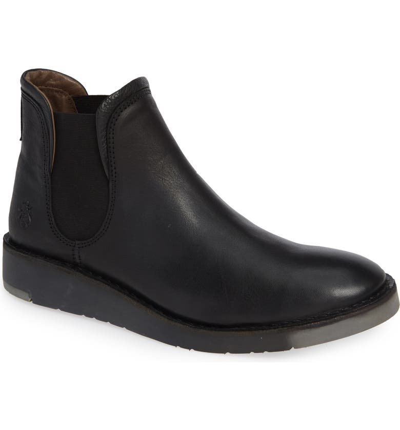 FLY LONDON Sern Water Resistant Chelsea Boot, Main, color, BLACK APSO