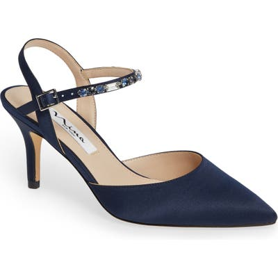 Nina Tonya Pointy Toe Pump- Blue