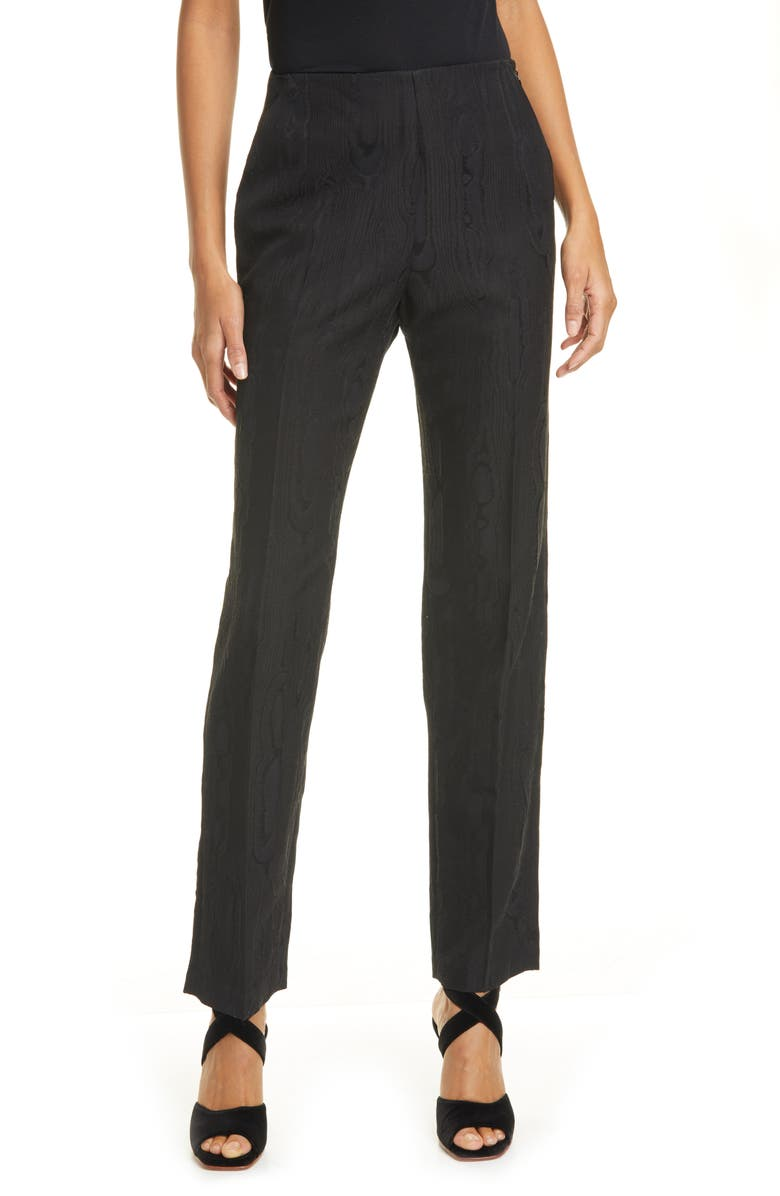 RACHEL COMEY Fractal Moiré Pants, Main, color, BLACK