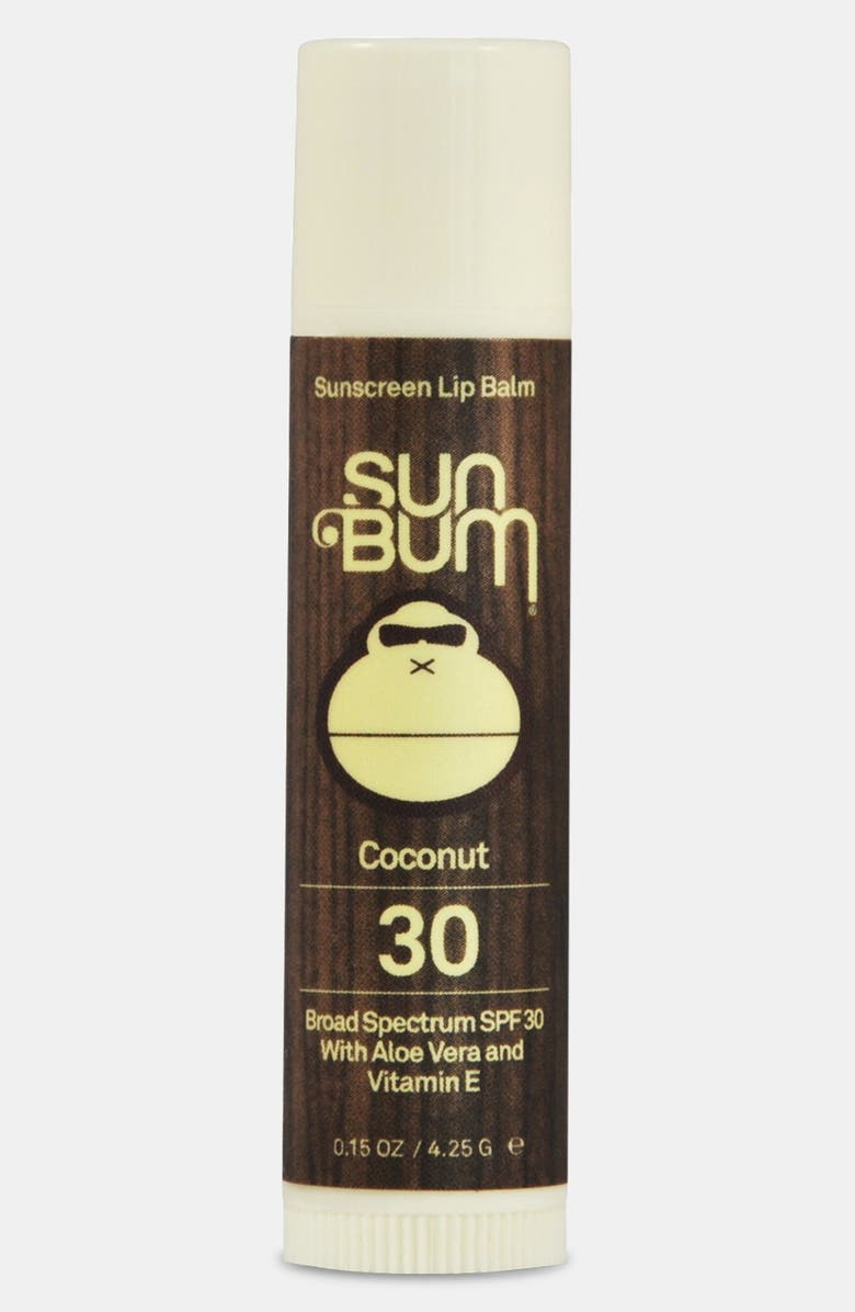 SUN BUM Coconut Lip Balm Broad Spectrum SPF 30, Main, color, 960