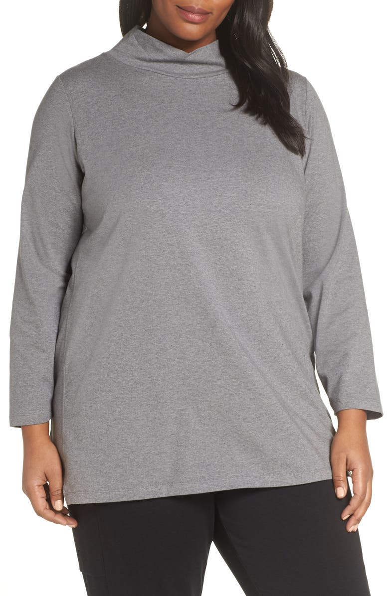 EILEEN FISHER Funnel Neck Tunic, Main, color, 087