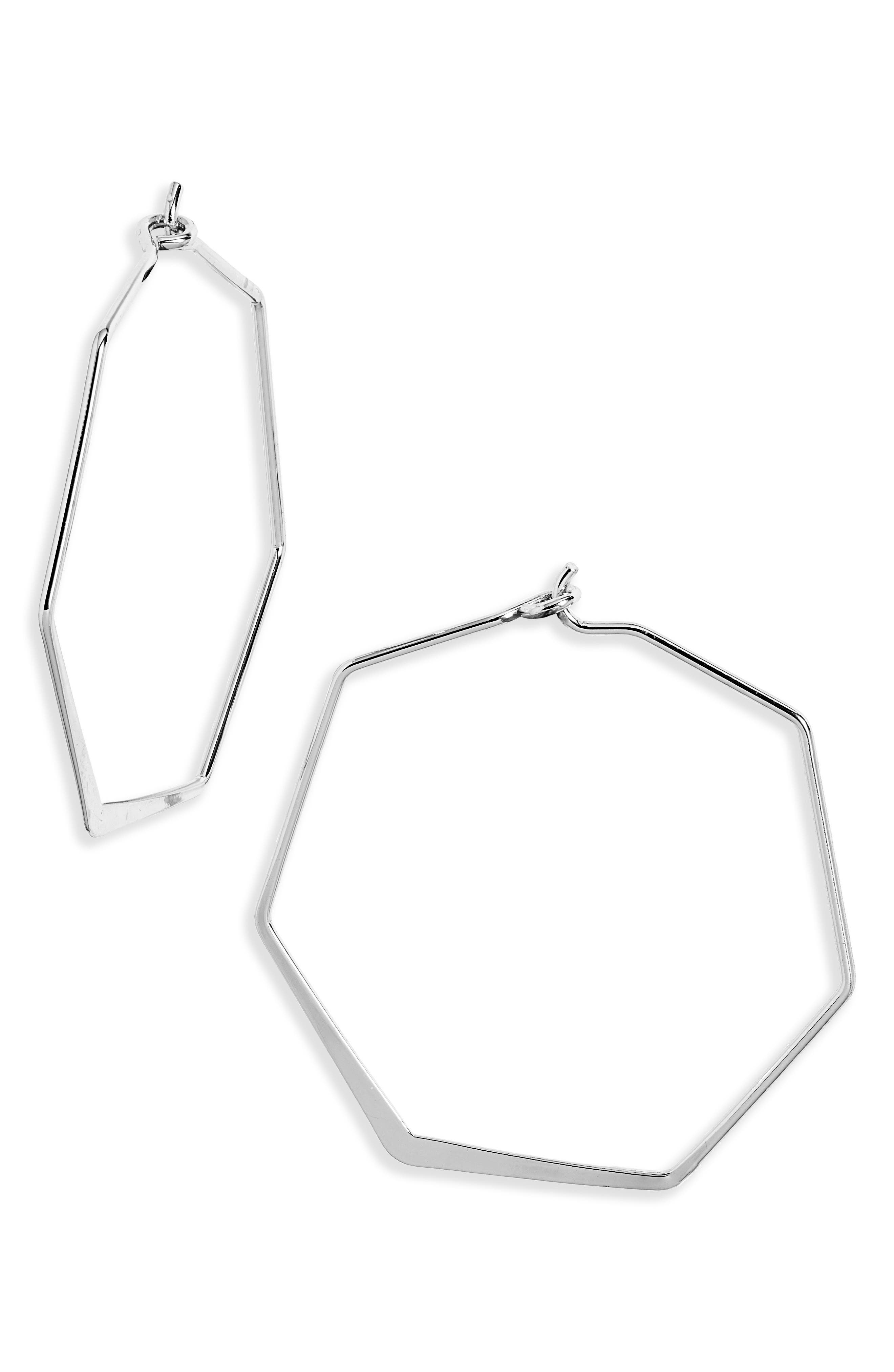 Wear these hoops often: they\\\'re elegant proof that geometry rules. Style Name: Bp. Hexagon Hoop Earrings. Style Number: 6069233. Available in stores.