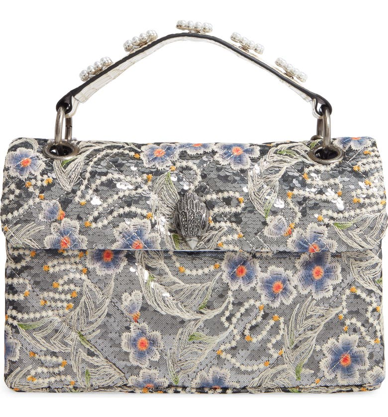 KURT GEIGER London Kensington Embroidered Sequin Shoulder Bag, Main, color, 451