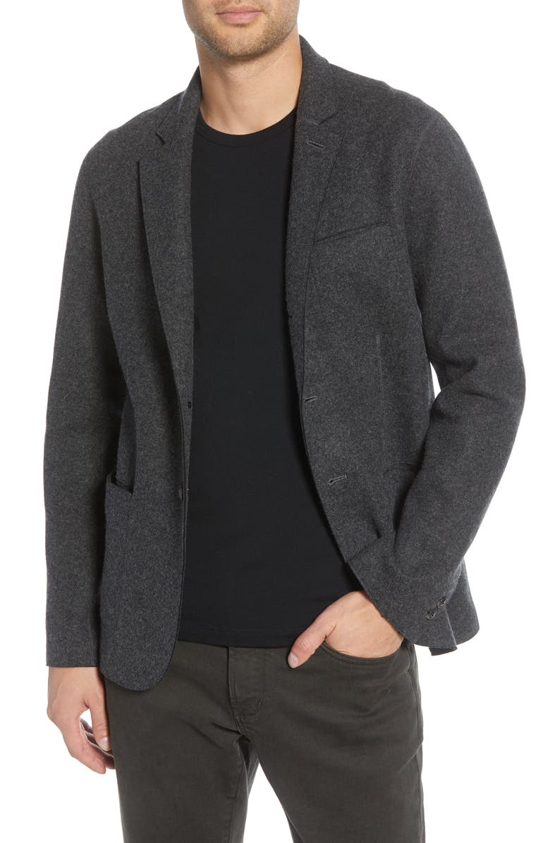 JOHN VARVATOS Slim Fit Double Face Wool Blend Sport Coat, Main, color, 020