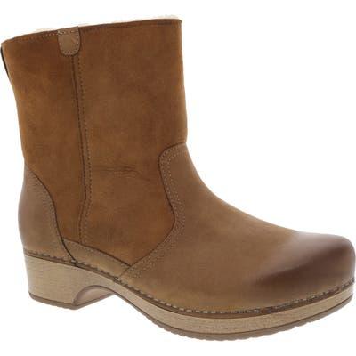 Dansko Bettie Genuine Shearling Lined Boot - Brown