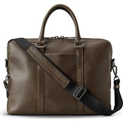 Shinola Navigator Leather Briefcase - Green