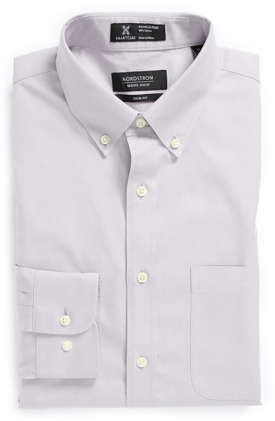 ,                             Smartcare<sup>™</sup> Trim Fit Solid Dress Shirt,                             Main thumbnail 10, color,                             021