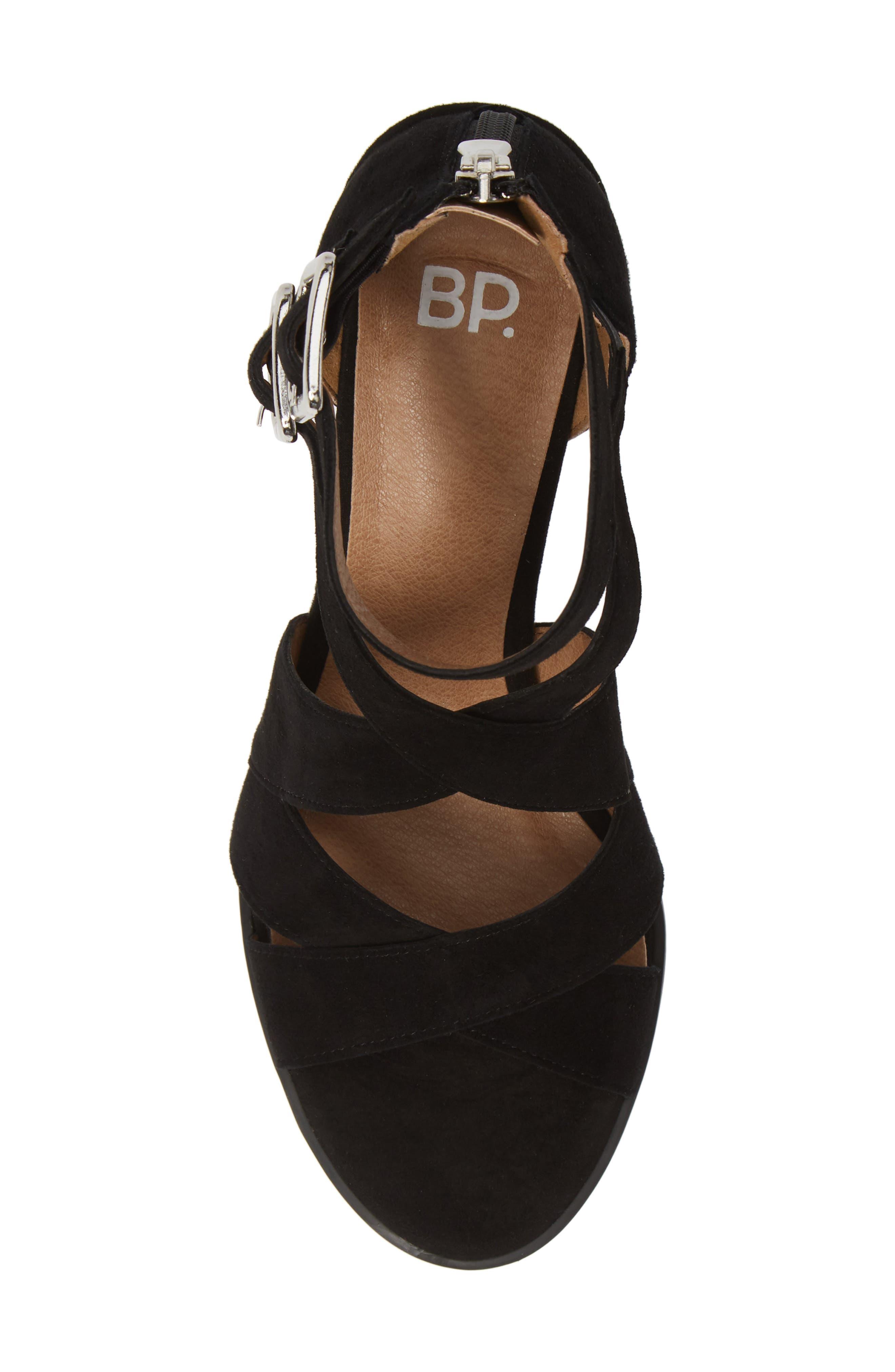 ,                             Izzy Block Heel Sandal,                             Alternate thumbnail 5, color,                             BLACK SUEDE